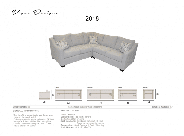2018 sectional or sofa
