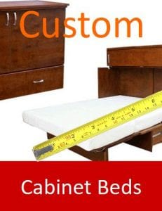 Custom cabinet beds