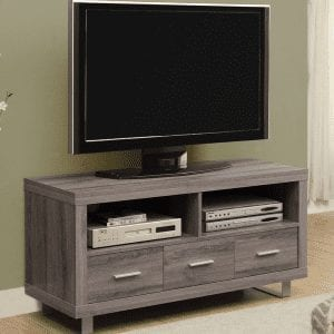 """Q030 48"""" Taupe TV Stand"""