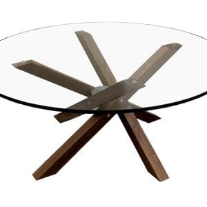 ISO round glass coffee table