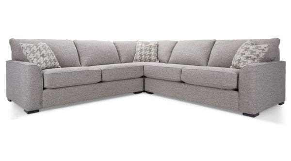 2786 Decor-Rest sectional. Hand made in Canada with a life time warranty on frame and springs.