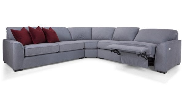 2786 Decor-Rest sectional. Hand made in Canada with a life time warranty on frame and springs. Shown with option power recliner love seat.