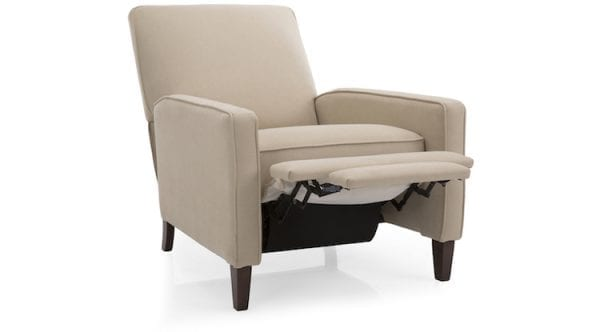7612 kick back chair by Decor-Rest. Hand made in Canada. Fabric or top grain leather.