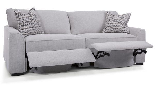 2786 Decor-Rest sectional. Hand made in Canada with a life time warranty on frame and springs. Shown with optional power recliners.