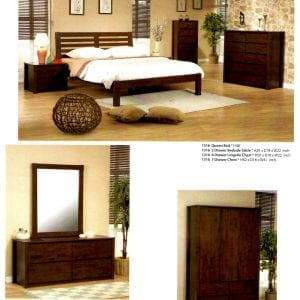 1316 maple wood bedroom set