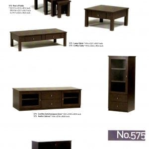 575 solid maple wood occasional tables